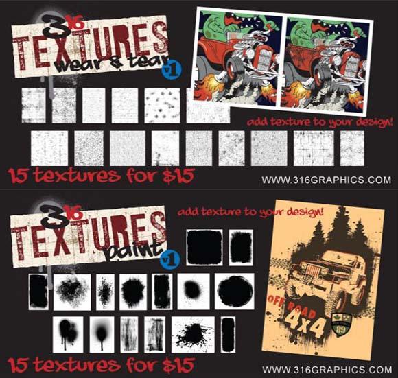 316 Graphics textures