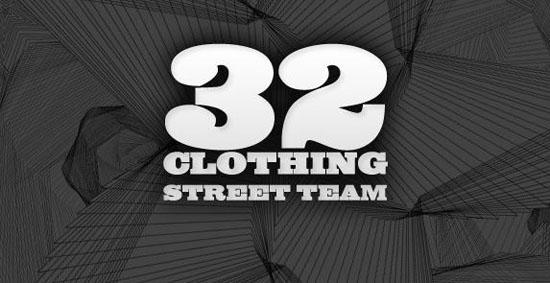 32 Clothing street team banner