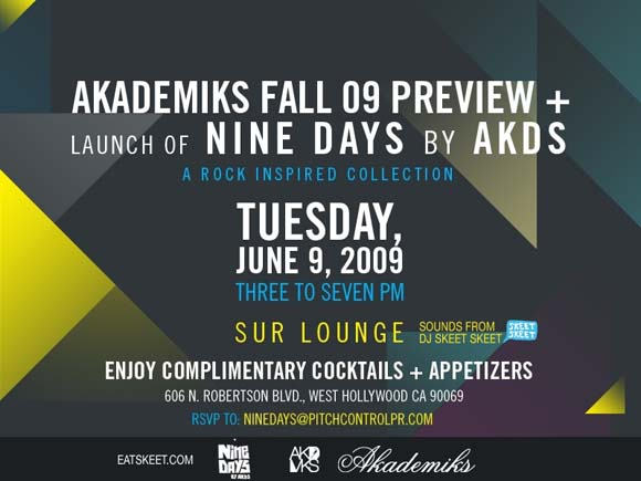 Akademiks/Nine Days Collection Preview Party flyer