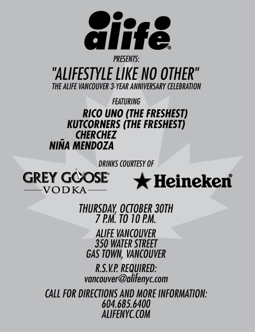 Alife Vancouver 3-Year Anniversary