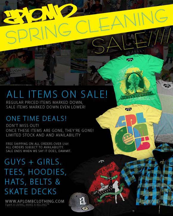Aplomb Spring Cleaning Sale flyer