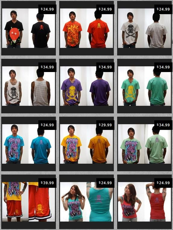 Arkaik Clothing line sheet