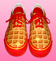 BBC | Ice cream waffle strawberries shoes