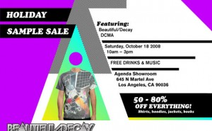 Beautiful/Decay Sample Sale in LA Oct. 18