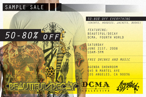 Beautiful/Decay sample sale banner