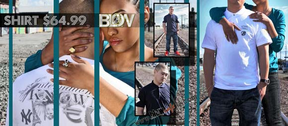 """Blow Clothing Collection """"Internationally Known"""" Diamond Polo Shirt"""