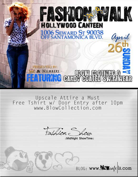 Blow Clothing Spring Fashion Walk Show flyer