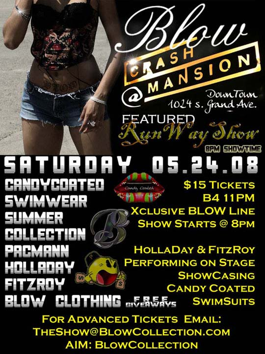 Blow Clothing runway show flyer
