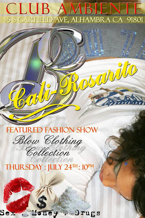 Blow Clothing Collection fashion show flyer