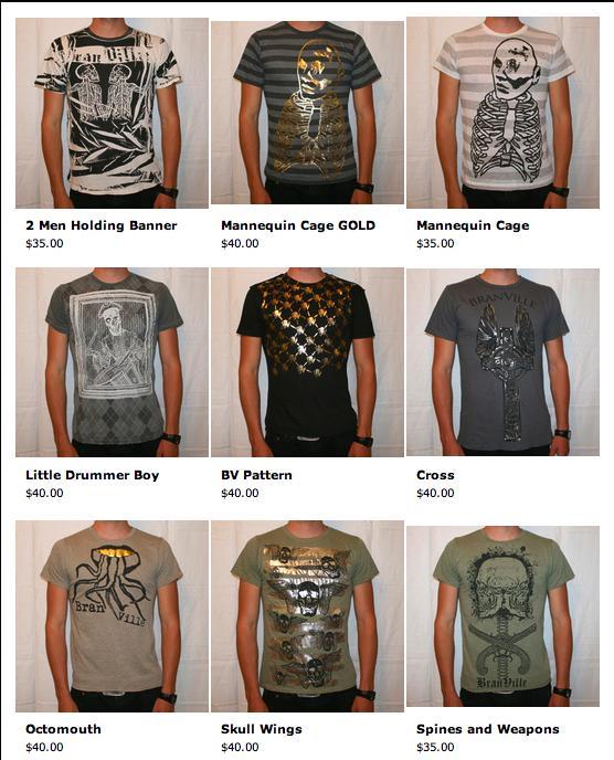 Branville Clothing shirt samples