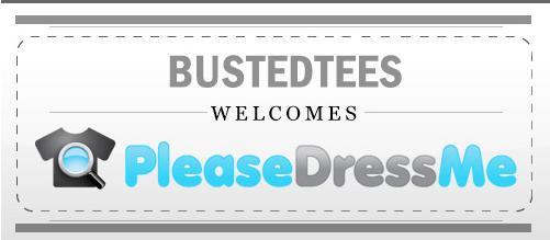 Busted Tees + PleaseDressMe flyer