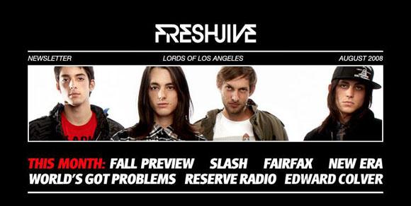 Freshjive Newletter header