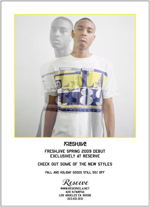 Freshjive Spring 2009 Debut flyer