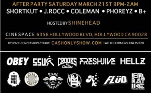 Cash Only Sample Sale & Afterparty