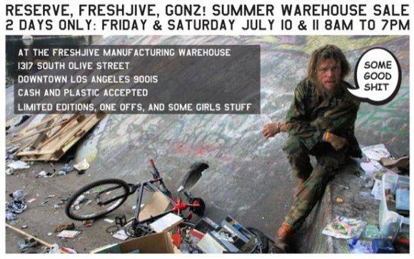 Freshjive Semi Annual Warehouse Sale