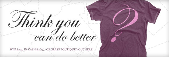 Glass Boutique annual shirt competition banner
