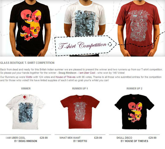 Glass Boutique contest winner tees