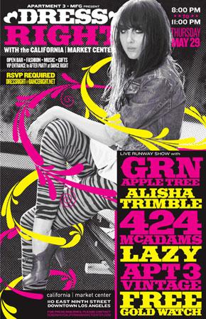 Grn Apple Tree fashion show flyer
