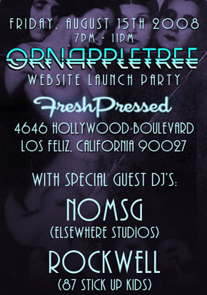 Grn Apple Tree website launch party flyer