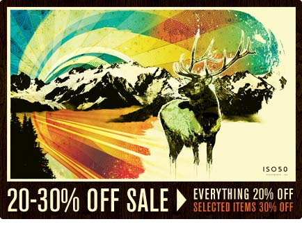 ISO50 20-30% off sale flyer