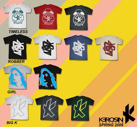 Kerosin Clothing Spring '09 line sheet