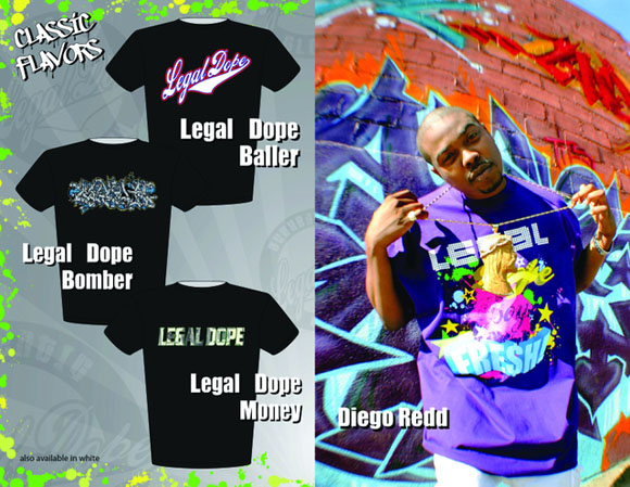 Legal Dope apparel sheet