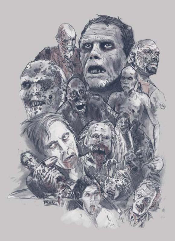 Mediocore Zombie tee design