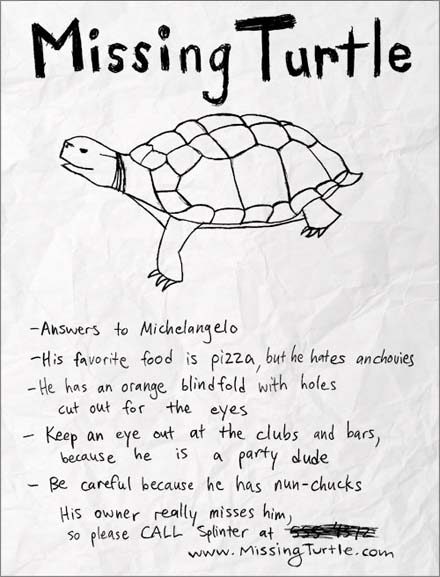 Missing Turtle tee