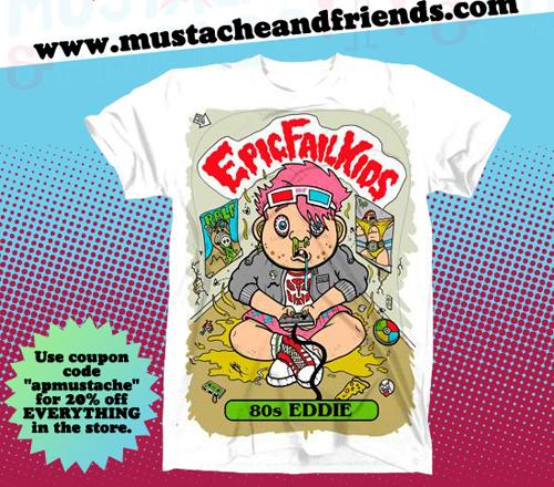 Mustache and Friends sale flyer