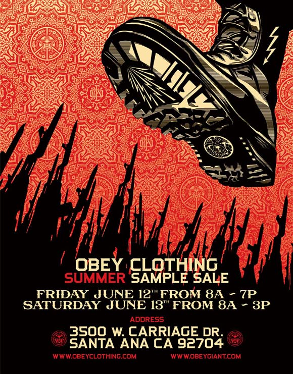 OBEY Clothing Summer Sample Sale