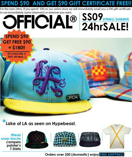 Official 24hr Sale - Spend $90, Get $90! flyer