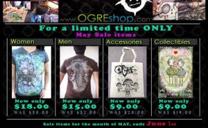 Ogre Shop May Sale Items