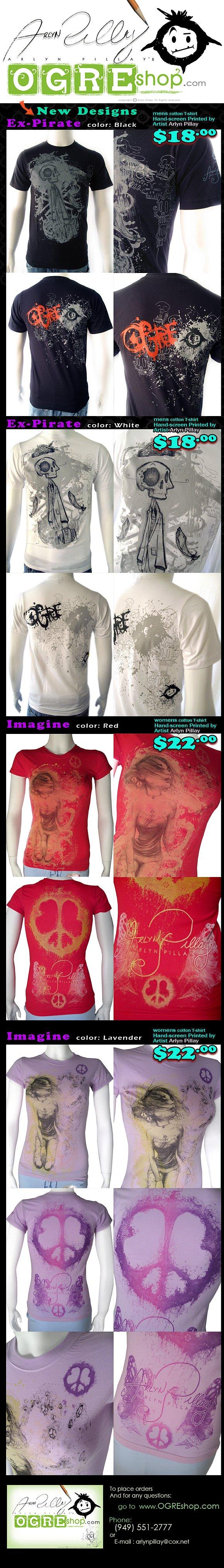 Ogre Shop August T-Shirt Sale - Imagine & Ex-Pirate