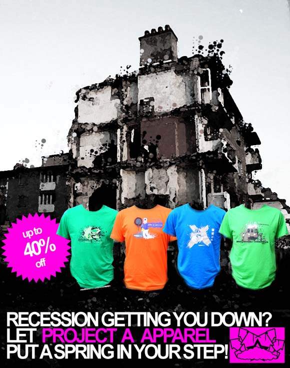Project A Apparel Recession Busting Sale flyer