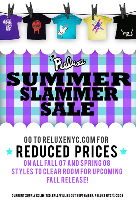 Reluxe Summer Slammer Sale flyer
