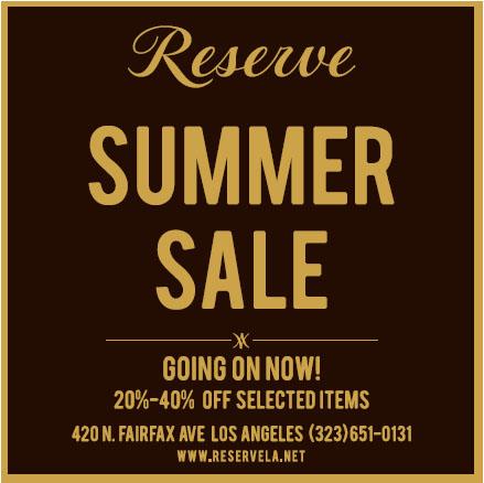 Reserve Summer Sale Flyer