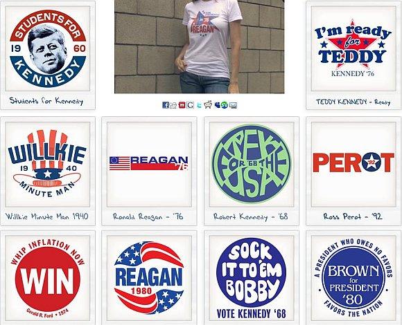 Retro Campaigns tee designs