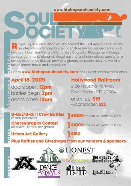Rogue Squirrel + Urban Artistry Present: Soul Society