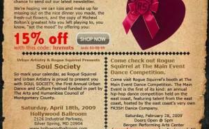 Rogue Squirrel Apparel Feb. '09 Discount + Events