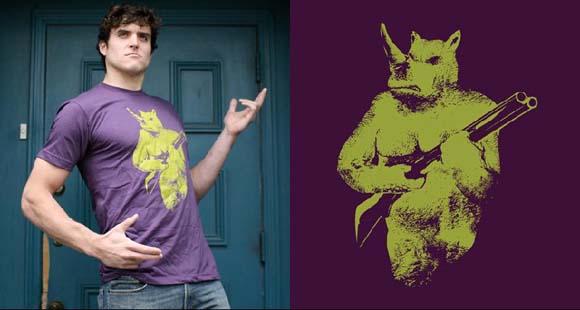 "Sharp Shirter ""Rhino Hunter"" tee"
