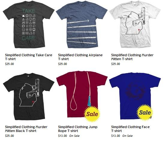 Simplified Clothing apparel