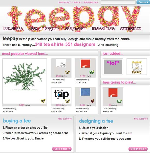 Teepay website screenshot