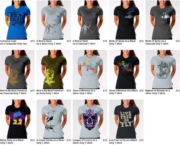TenBills.com Introduces Ladies-Cut Tees