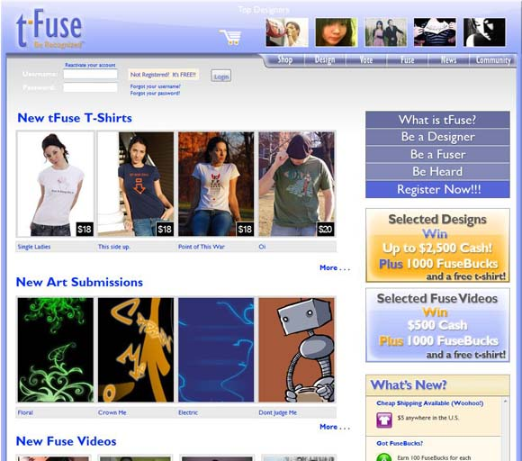 tFuse website screenshot