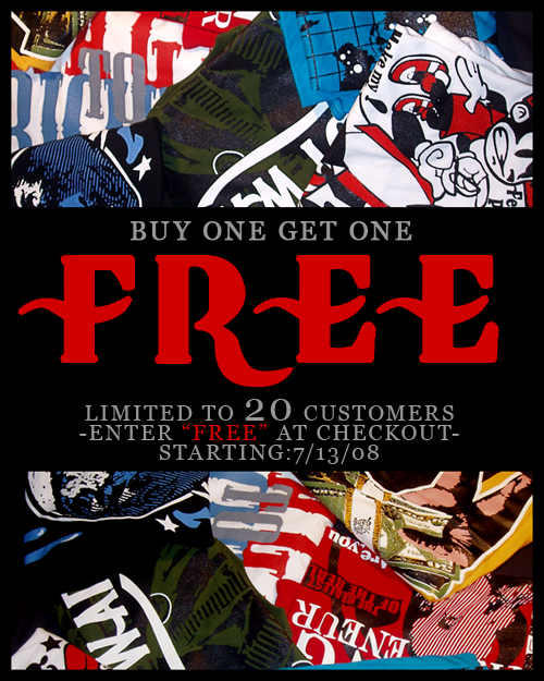 The T-Shirt Gang Free Tee Promotion flyer