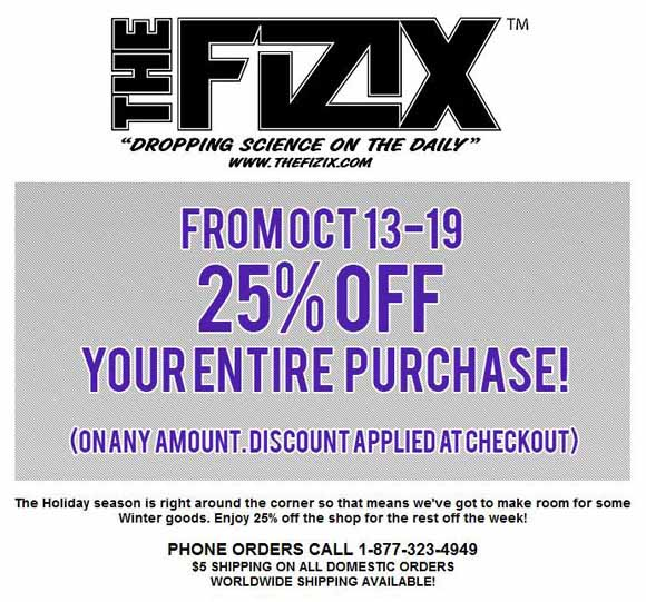 The Fizix sale flyer