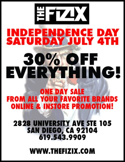 """The Fizix 4th of July """"One Day"""" Sale flyer"""