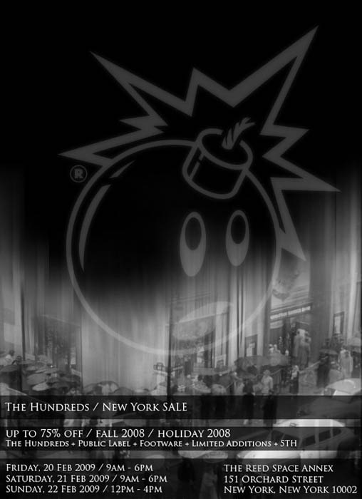 The Hundreds New York 3-day Sale flyer