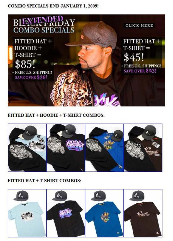 Vintage Clothing Limited combo special flyer