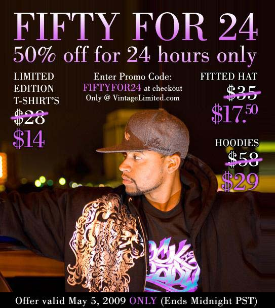 "Vintage Clothing Limited ""Fifty For 24"" Special"